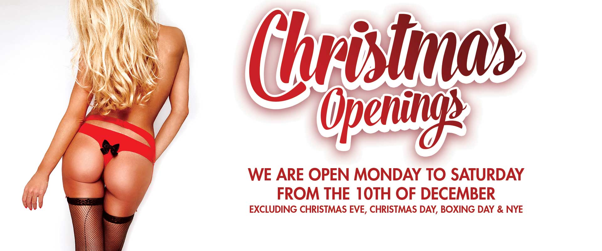 Christmas Opening Times 10th of December 2018