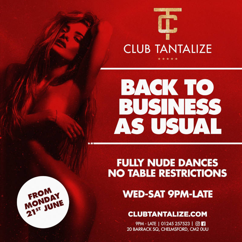 Club Tantalize 2021 Reopening